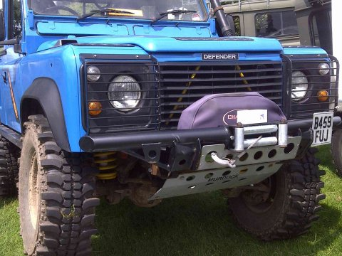 Land Rover Defender winch bumper