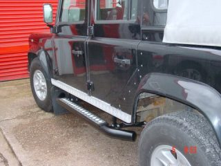 Land-Rover Defender 110 crew cab side steps