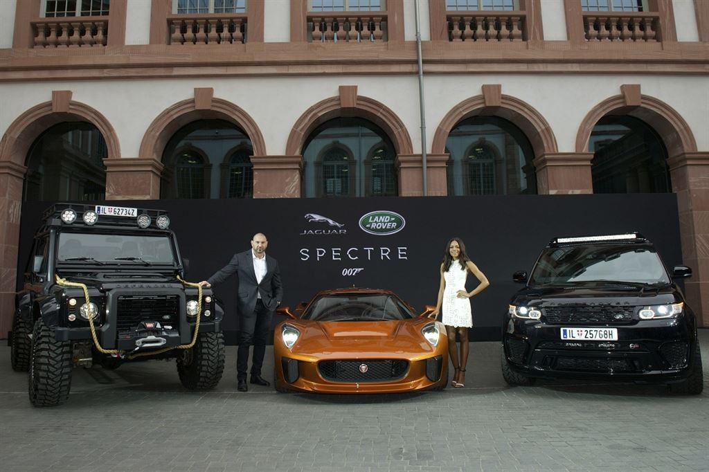 Jaguar Land Rover vehicles that will appear in the latest Bond film Spectre